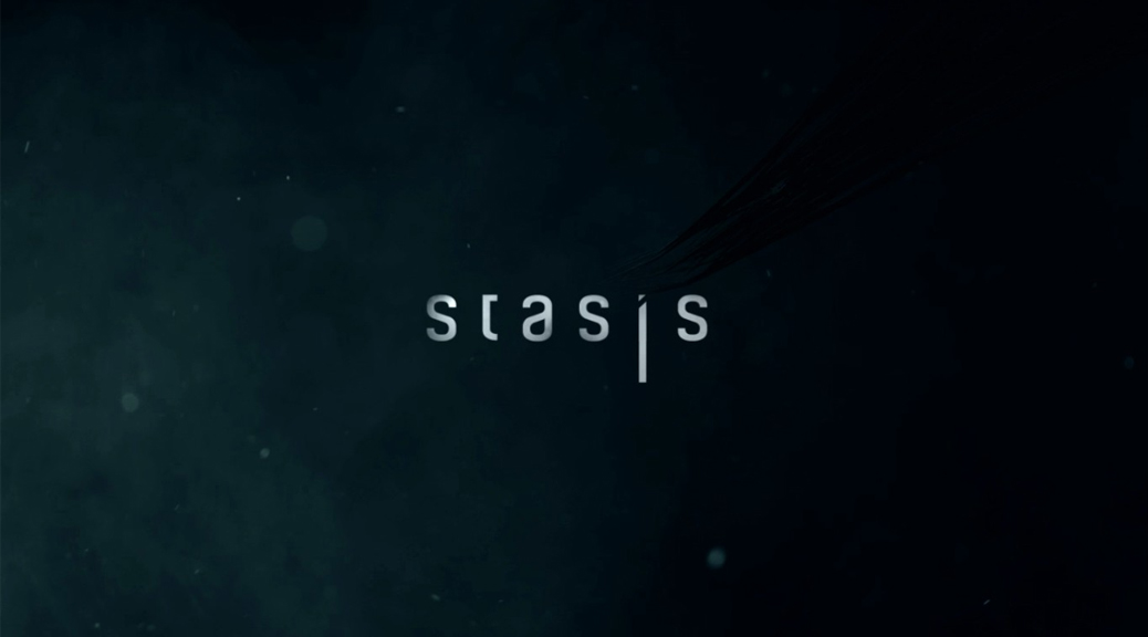 Stasis, video game, box art, title, smoke, space, dark