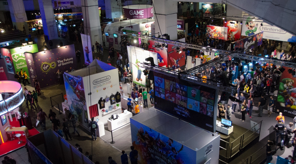 EGX, video games, expo, crowds, stands