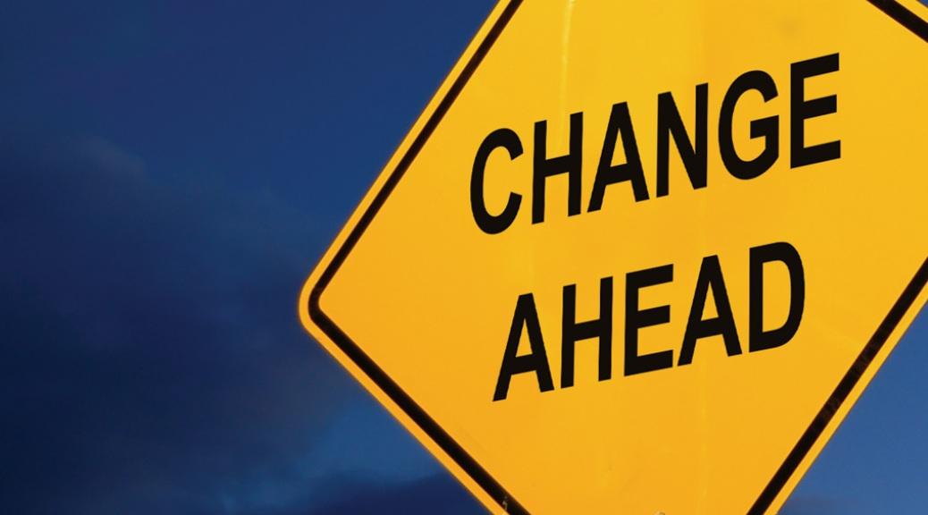 Change, road sign, sky