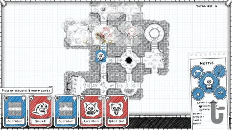 Guild of Dungeoneering, video game, card game, Norris, dungeon, rooms, pen and paper