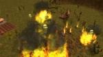 Idol Hands, video game, Furlings, village, fire, flames, smoke