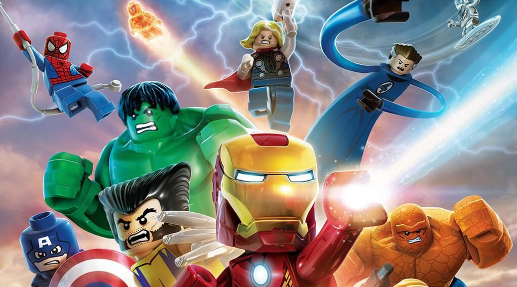 LEGO Marvel Superheroes, video game, box art, Iron Man, Hulk, Wolverine, Thor, Spiderman, Captain America