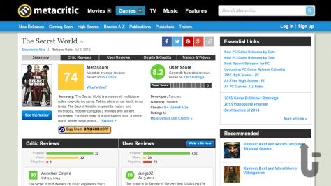 The Secret World, video game, Metacritic, metscore, reviews