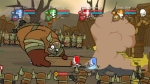Castle Crashers, video game, knights, fight, arena, troll