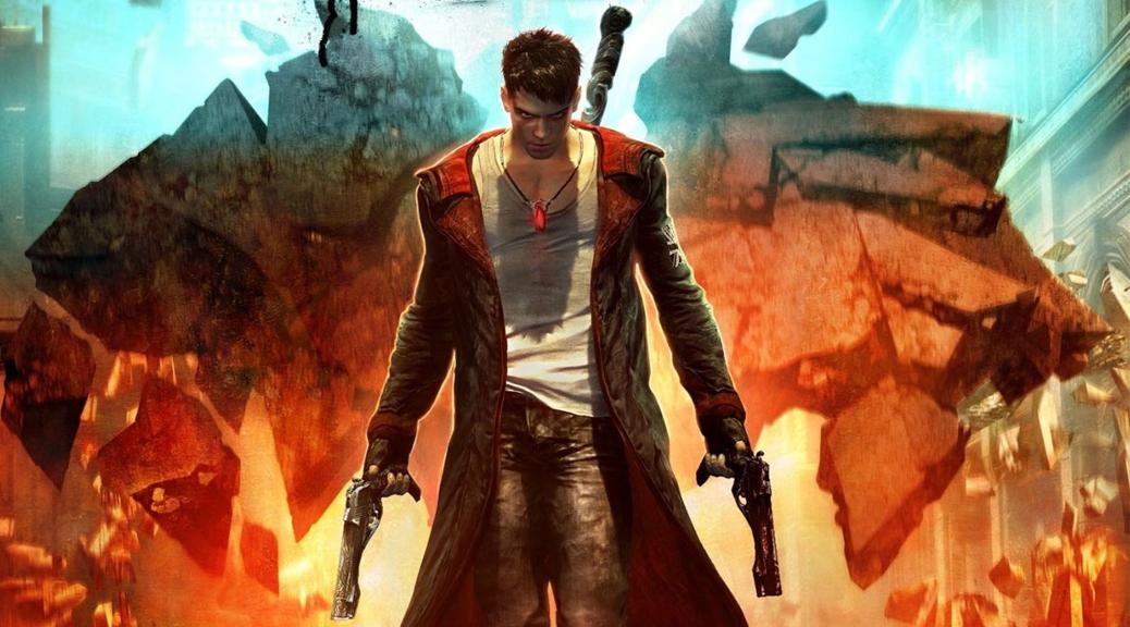 DmC: Devil May Cry, Devil May Cry, video game, box art, Dante, guns