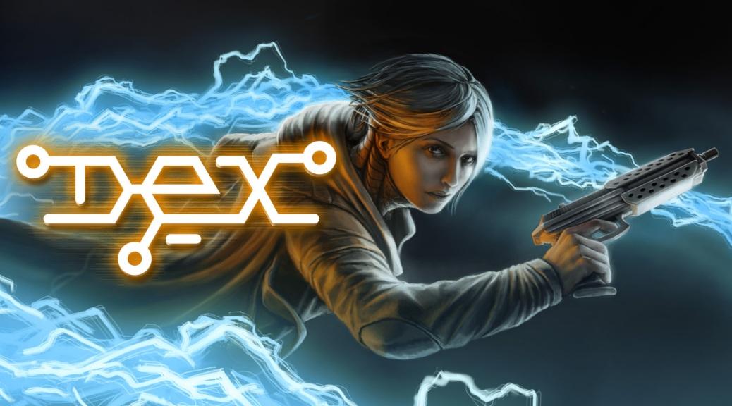 Dex, video game, box art, gun