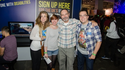 EGX, expo, video games, Chloe, Kim, Dr Mick, Phil, SpecialEffect, stand, charity, volunteeing