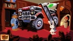 Sam & Max Hit the Road, video game, Sam, Max, bedroom, monster truck, bed