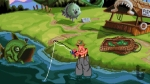 Sam & Max Hit the Road, video game, fisherman, lake, water, fish, talking fish, fishing rod