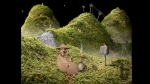 Samorost, video game, gnome, hills, sheep, ski lift, smoke, pipe