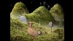 Samorost, video game, gnome, hills, sheep, ski lift, smoke, pipe