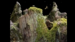 Samorost, video game, goats, cliff, eagle, gnome
