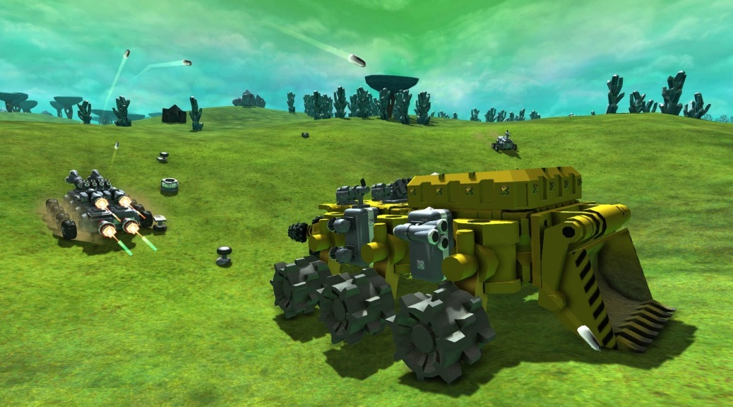 TerraTech, video game, tank, missiles, guns, combat