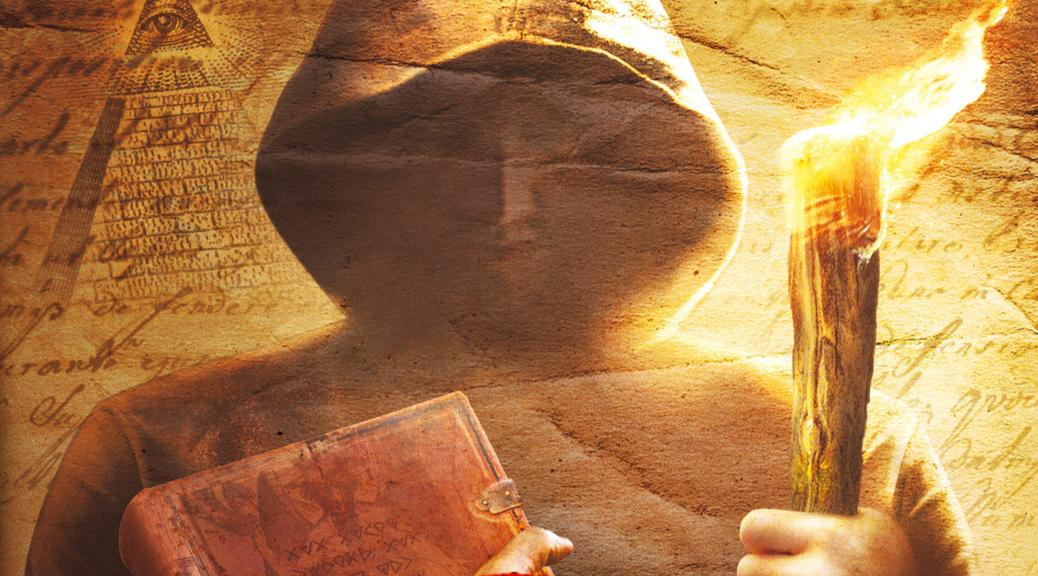 Broken Sword Shadow of the Templars - Director's Cut, video game, box art, Knights Templar, man, hood, book, torch, flame