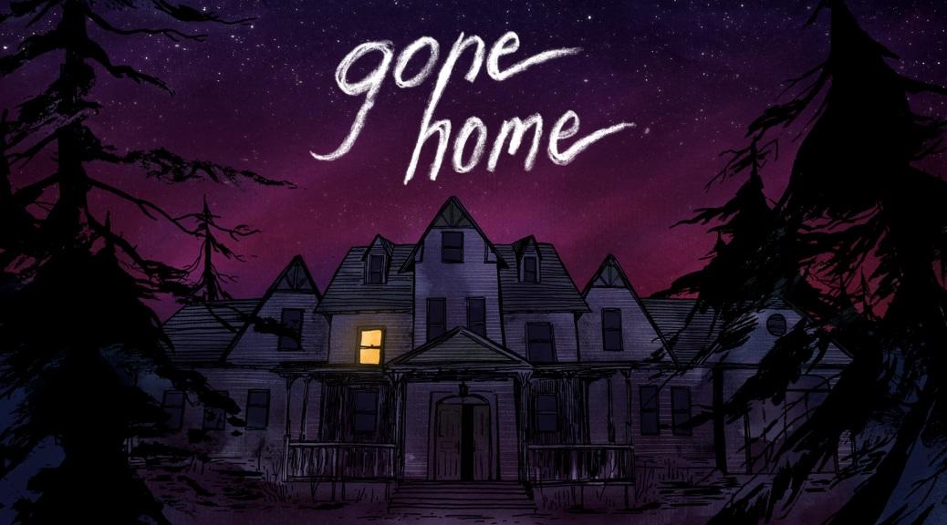 Gone Home, video game, box art, night, sky, stars, dark, trees, house, purple