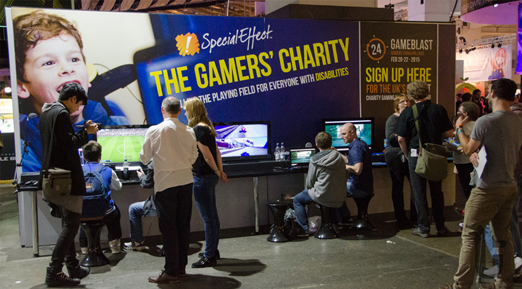 SpecialEffect, charity, EGX, expo, video games, stand