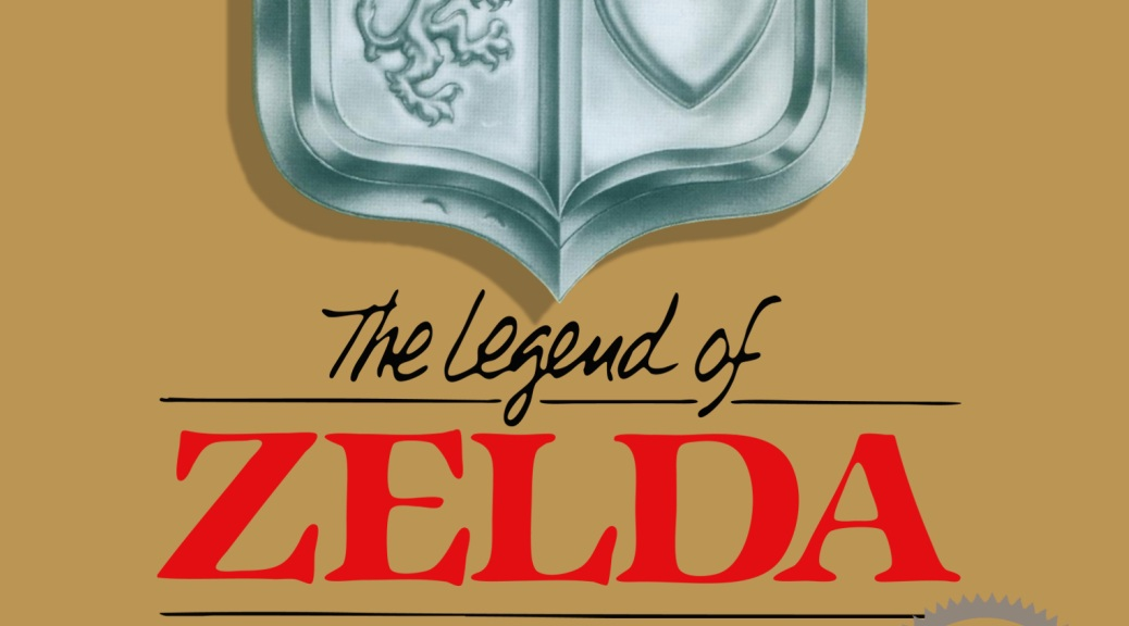 The Legend of Zelda, video game, box art, shield, coat of arms