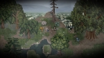 A Bird Story, video game, forest, trees, puddles, boy, bird, rocks