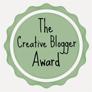 Creative Blogger, WordPress, award