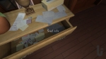 Gone Home, video game, drawer, papers, note, read note, box of tissues