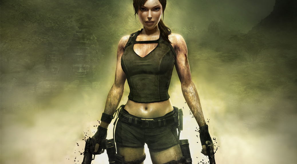 Tomb Raider: Underworld, box art, Tomb Raider, Lara Croft, guns
