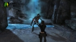 Tomb Raider: Underworld, video game, Tomb Raider, Lara Croft, cave, waterfall, guns, skeleton, monster