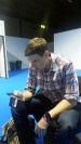 EGX, event, expo, video games, Ben, press room, phone