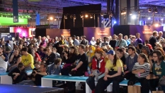 EGX, event, expo, video games, cosplay, stage, spectators