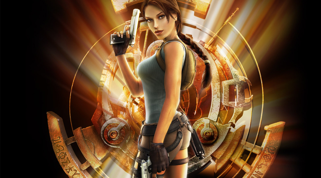 Tomb Raider, Tomb Raider: Anniversary, Lara Croft, video game, box art, Scion, guns