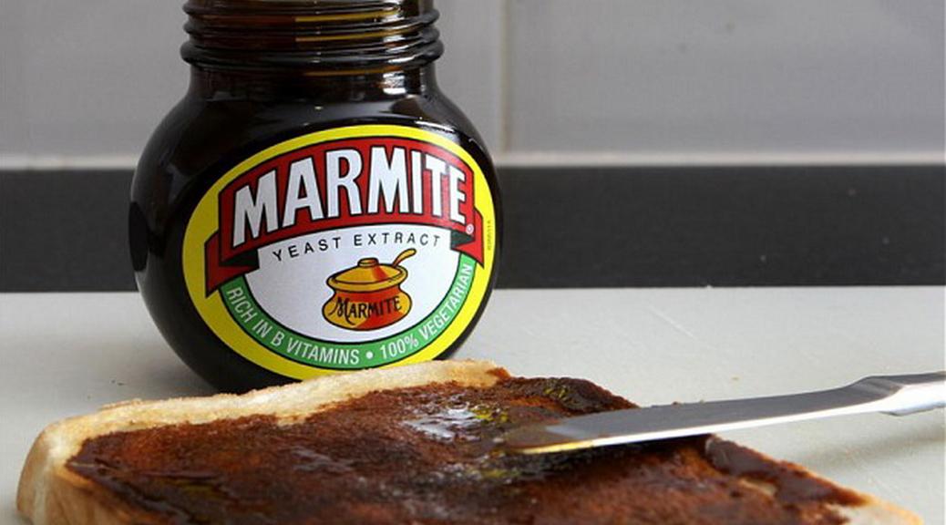Marmite, spread, kitchen, jar, brown, toast, bread, knife