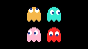 Pac-Man, video game, ghosts, Inky, Blinky, Pinky, Clyde
