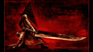 Silent Hill: Homecoming, Pyramid Head, video game, sword, blood