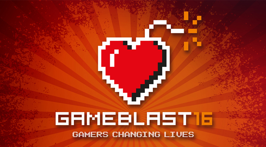 GameBlast, charity, even, heart, bomb, pixels, logo