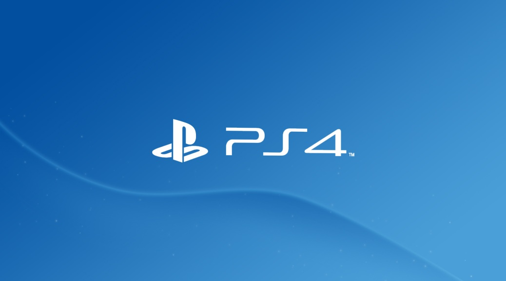 PlayStation 4, PS4, video games, console, logo, blue