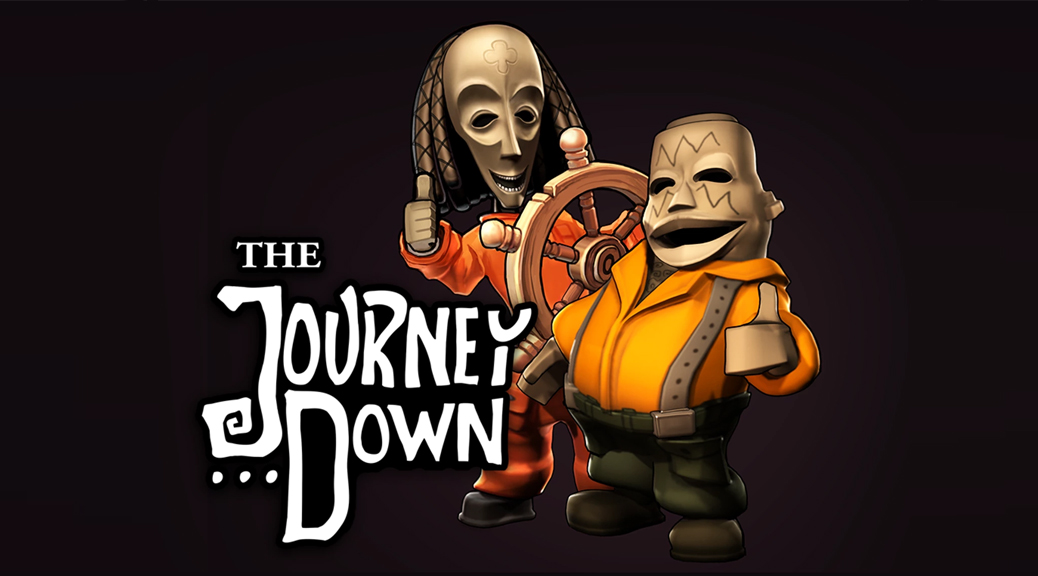 The Journey Down, box art, video game, title, Bwana, Kito, African, tribal, steering wheel, ship's wheel