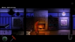 The Silent Age, video game, Joe, janitor, seventies, fireplace, fire, piano, rug, lamps